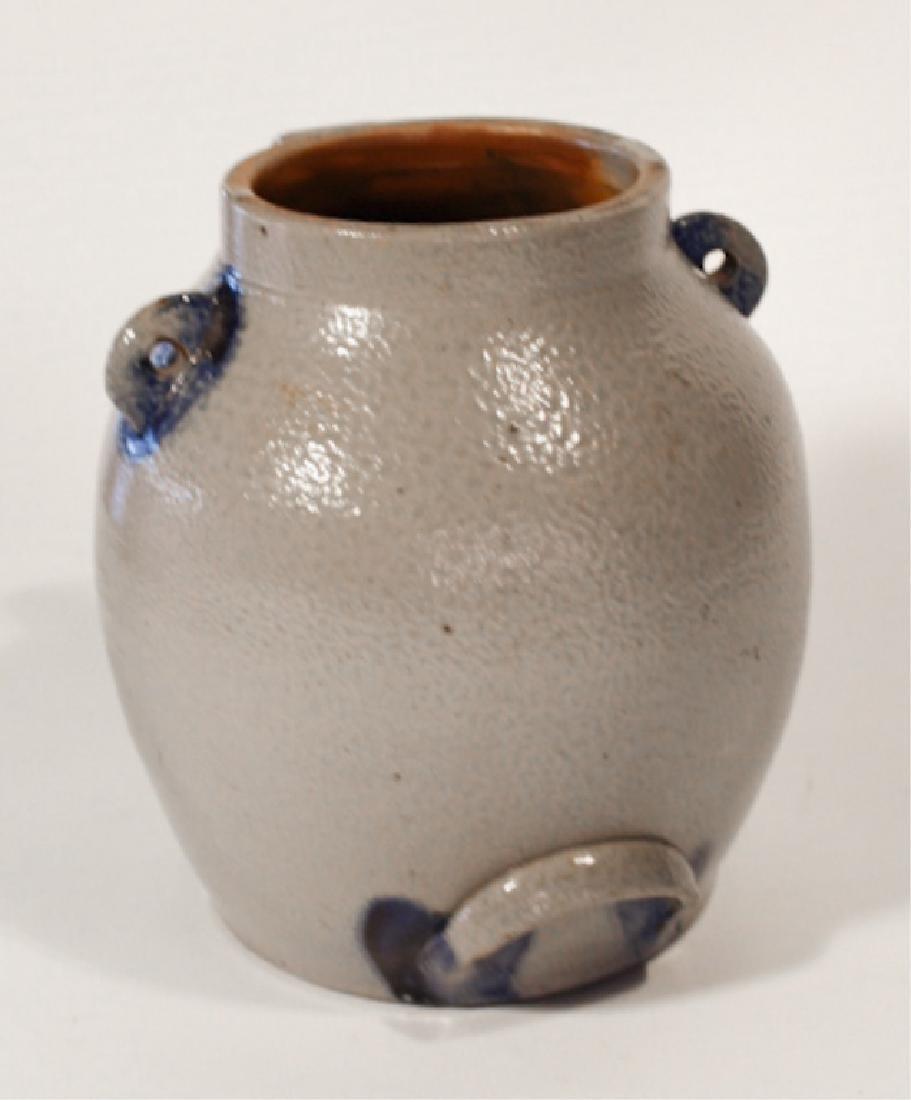 American Decorated Salt Glazed Stoneware BatterJug