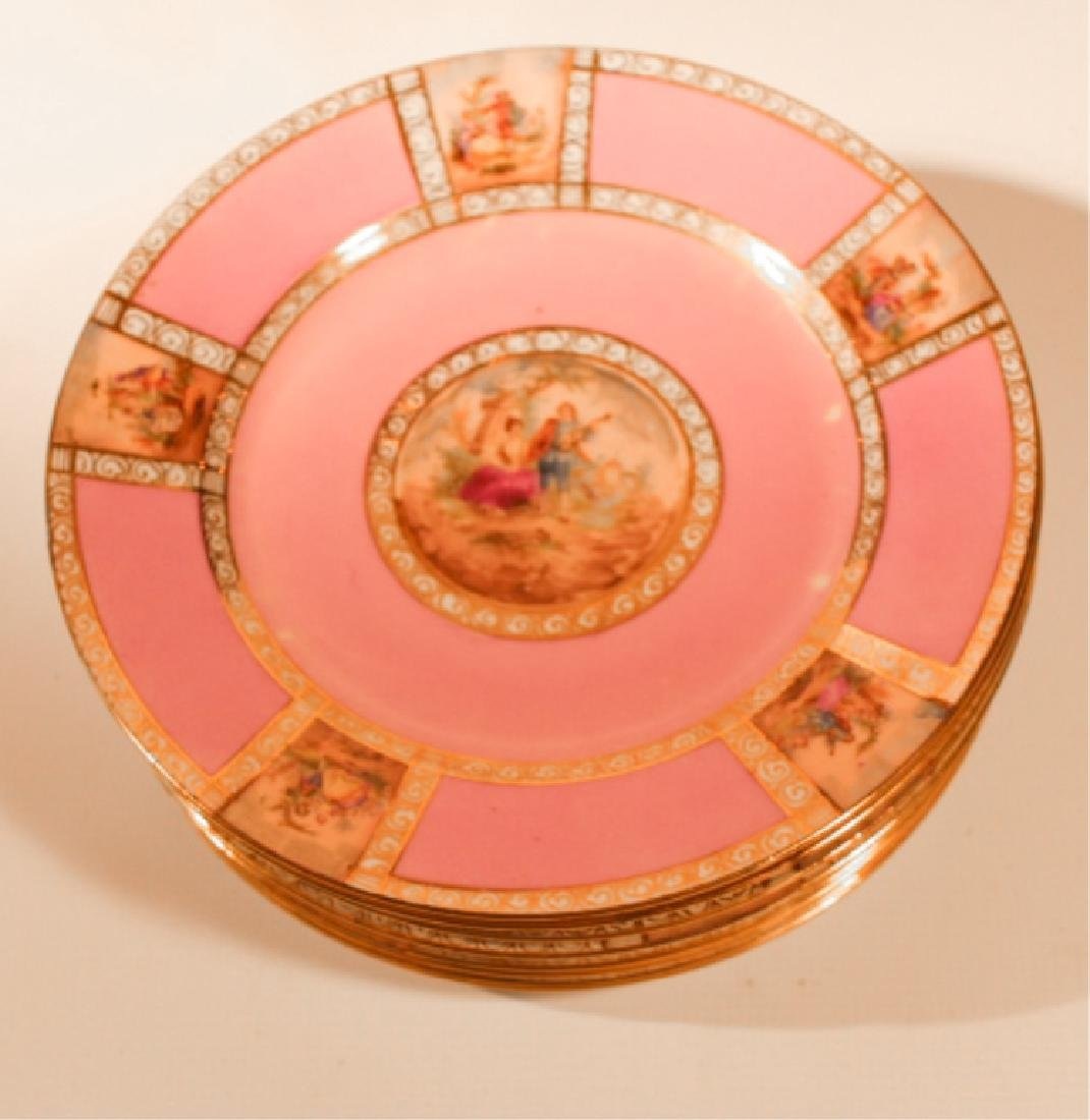 Eight Victoria Classical Dinner Plates