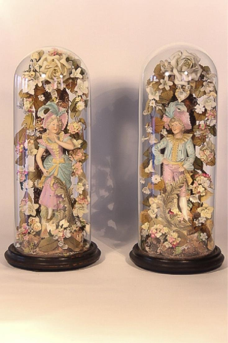 Pair Antique Continental Cold Painted Figures