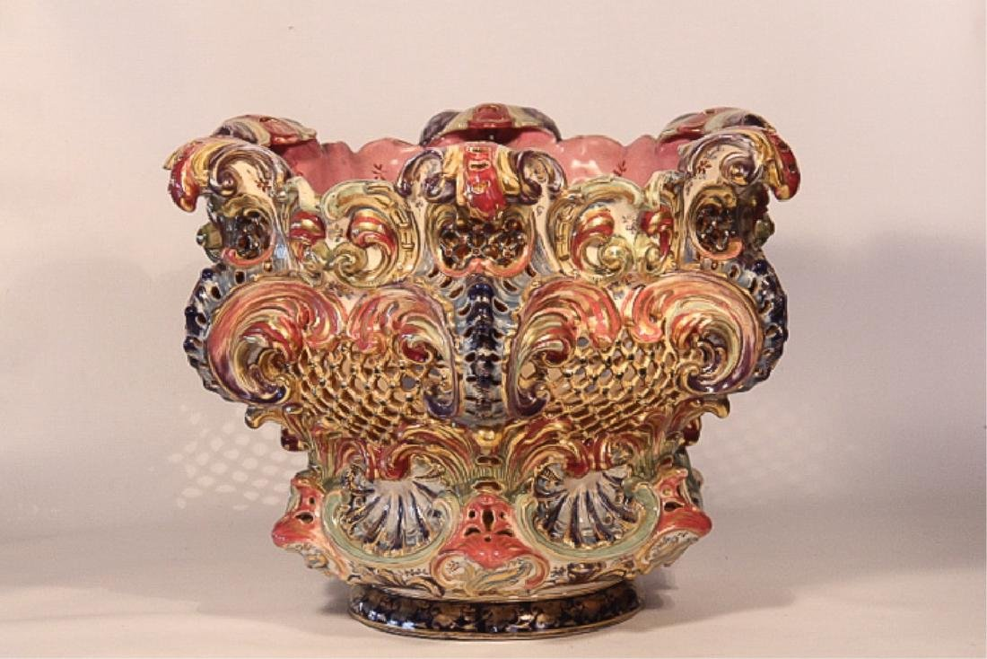 Monumental Fischer Budapest Porcelain Center Urn