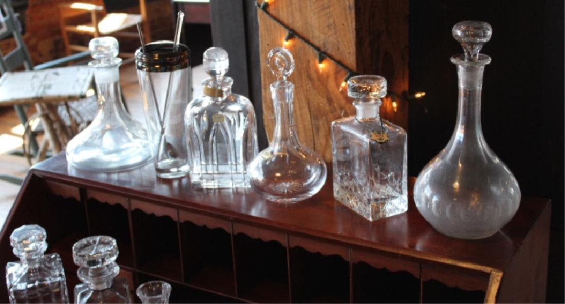 Vintage Cut Crystal & Glass Liquor Decanters