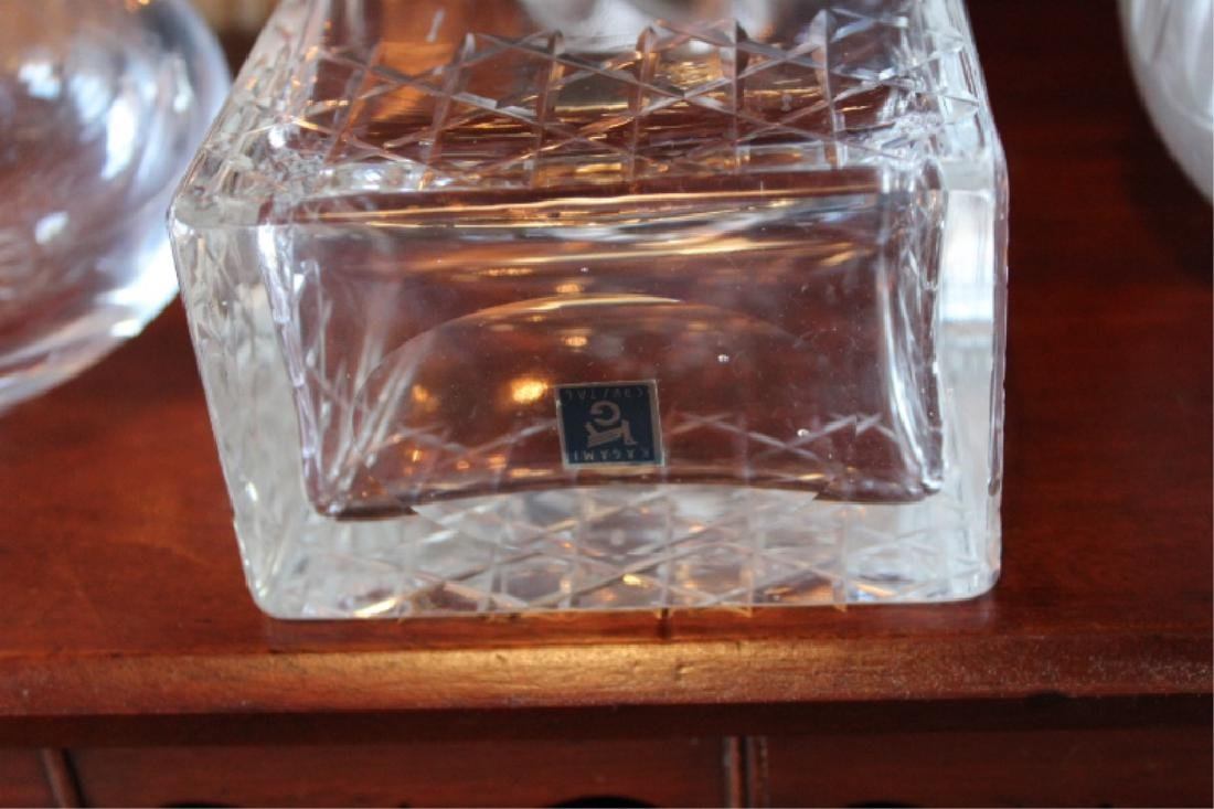 Vintage Cut Crystal & Glass Liquor Decanters - 4