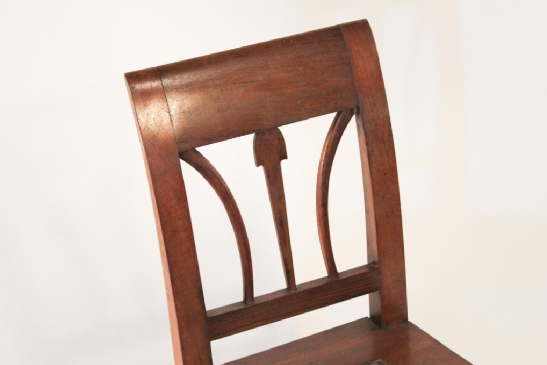 Antique Hepplewhite Mahogany Side Chair - 3
