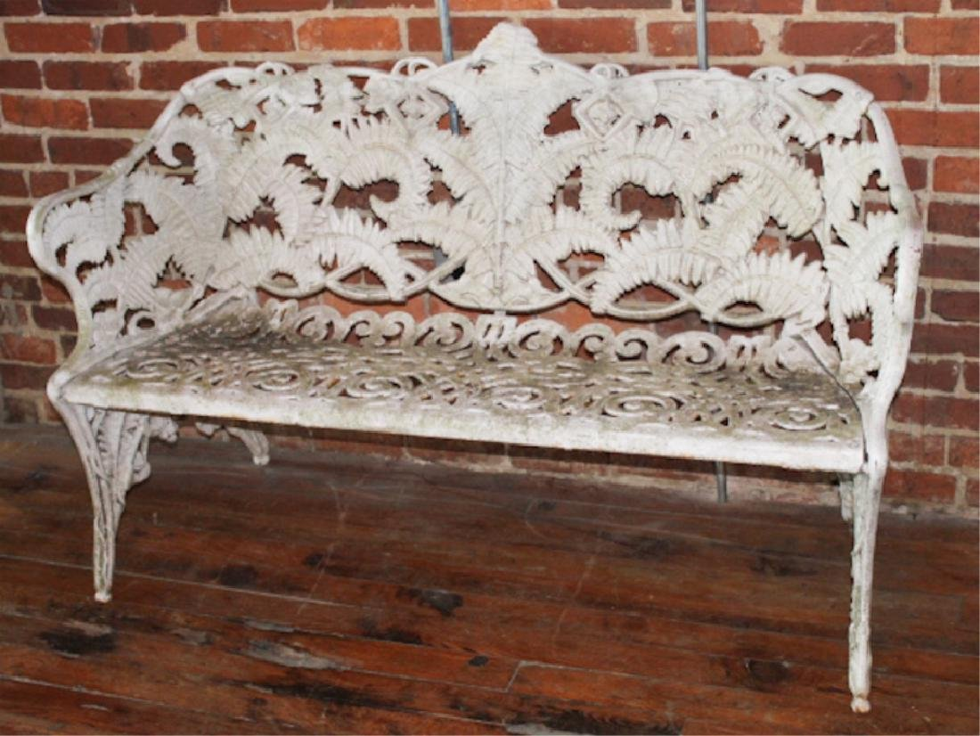 Aesthetic Movement Cast Iron Garden Bench