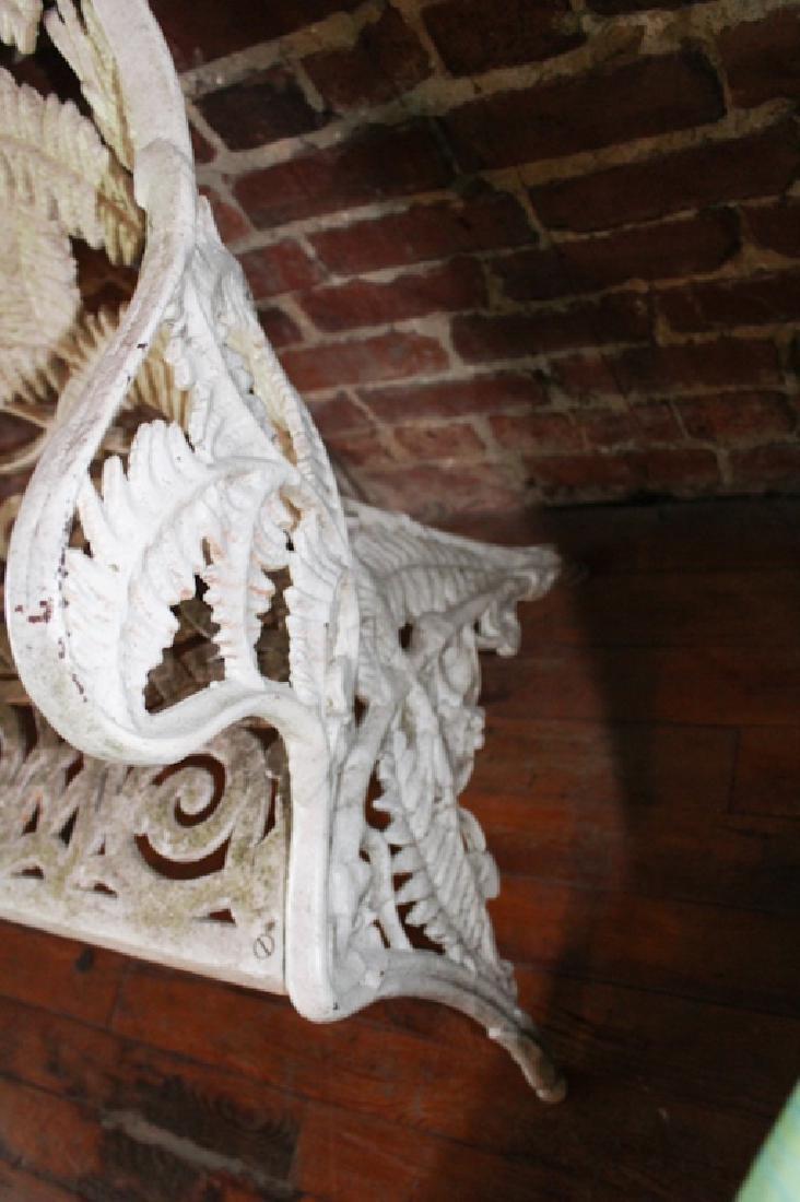 Aesthetic Movement Cast Iron Garden Bench - 5