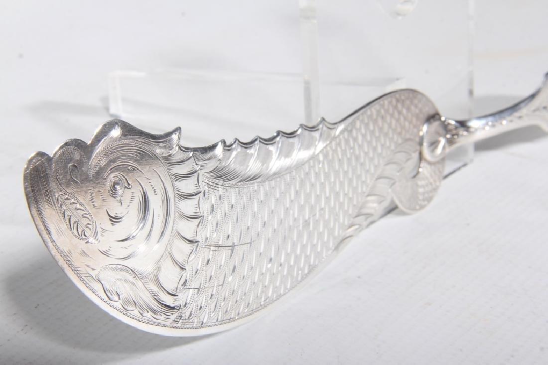 Important Salem NC Coin Silver Fish Server - 2