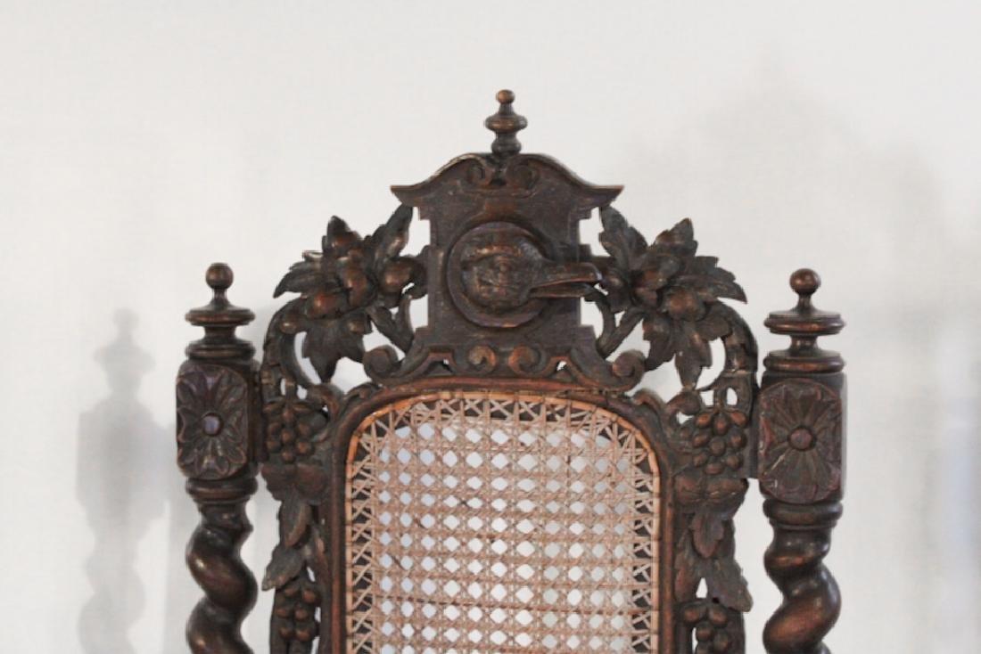 Three Renaissance Revival English Oak Side Chairs - 2