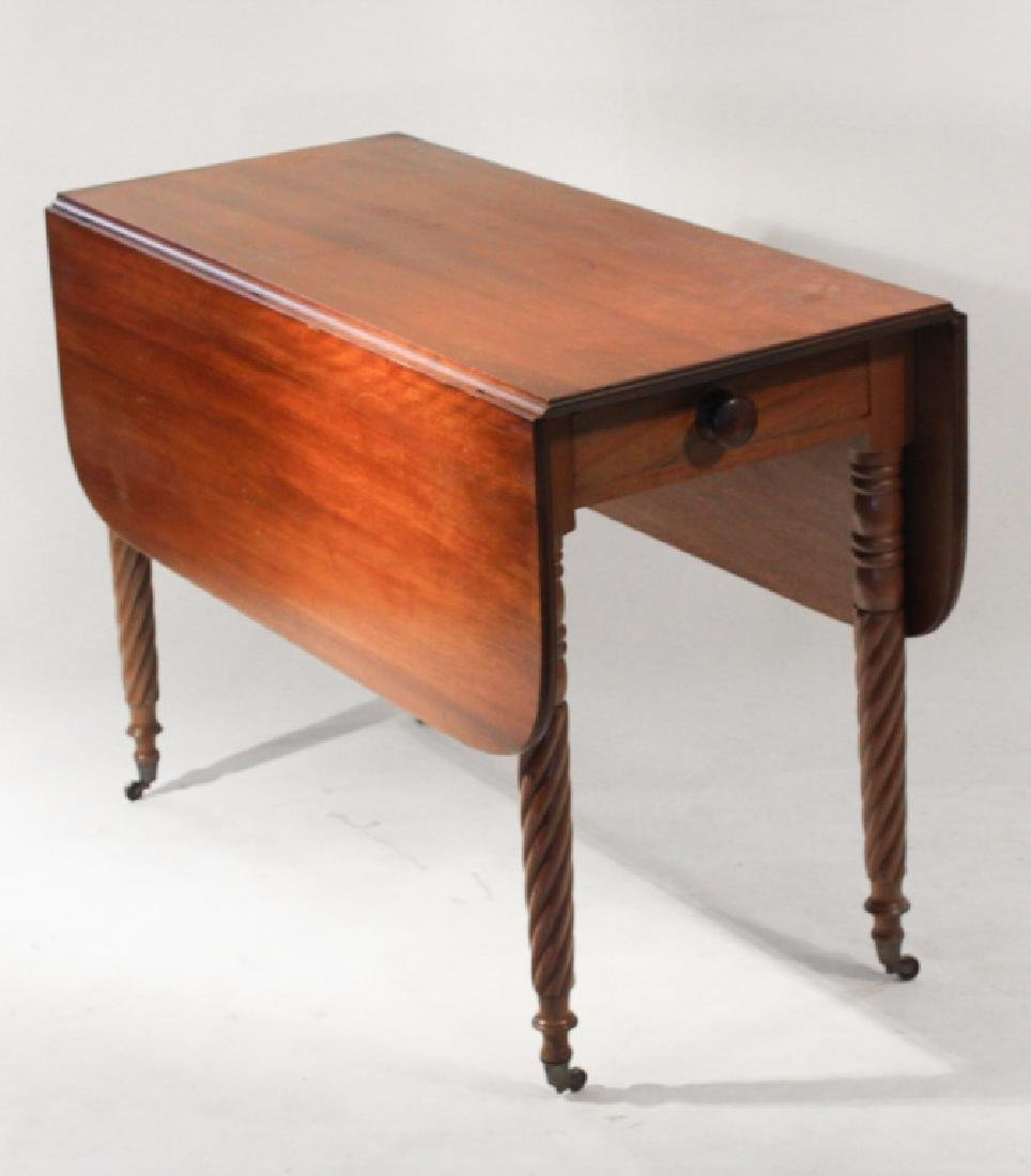 Federal Carved Mahogany Drop Leaf Table