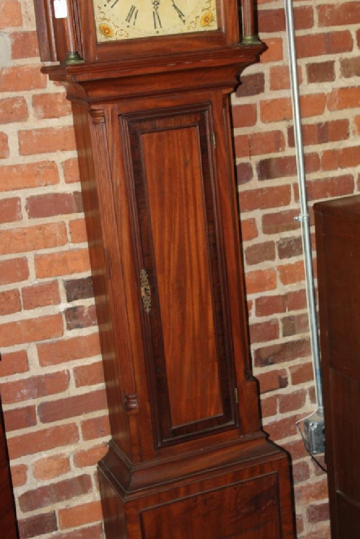 American Chippendale Mahogany Tall Case Clock - 4