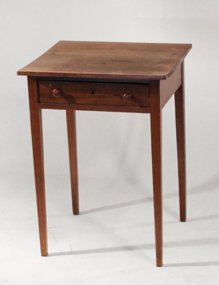 Federal Walnut One Drawer Side Table