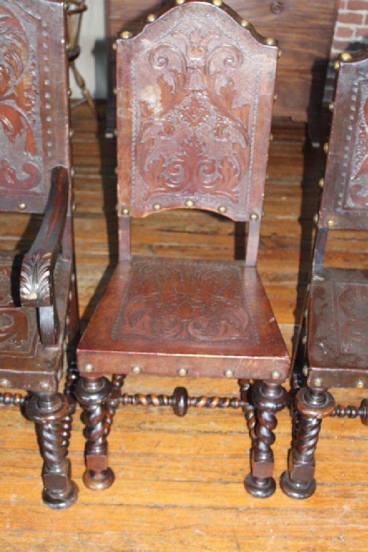 Set Eight Brazilian Colonial Style Dining Chairs - 2
