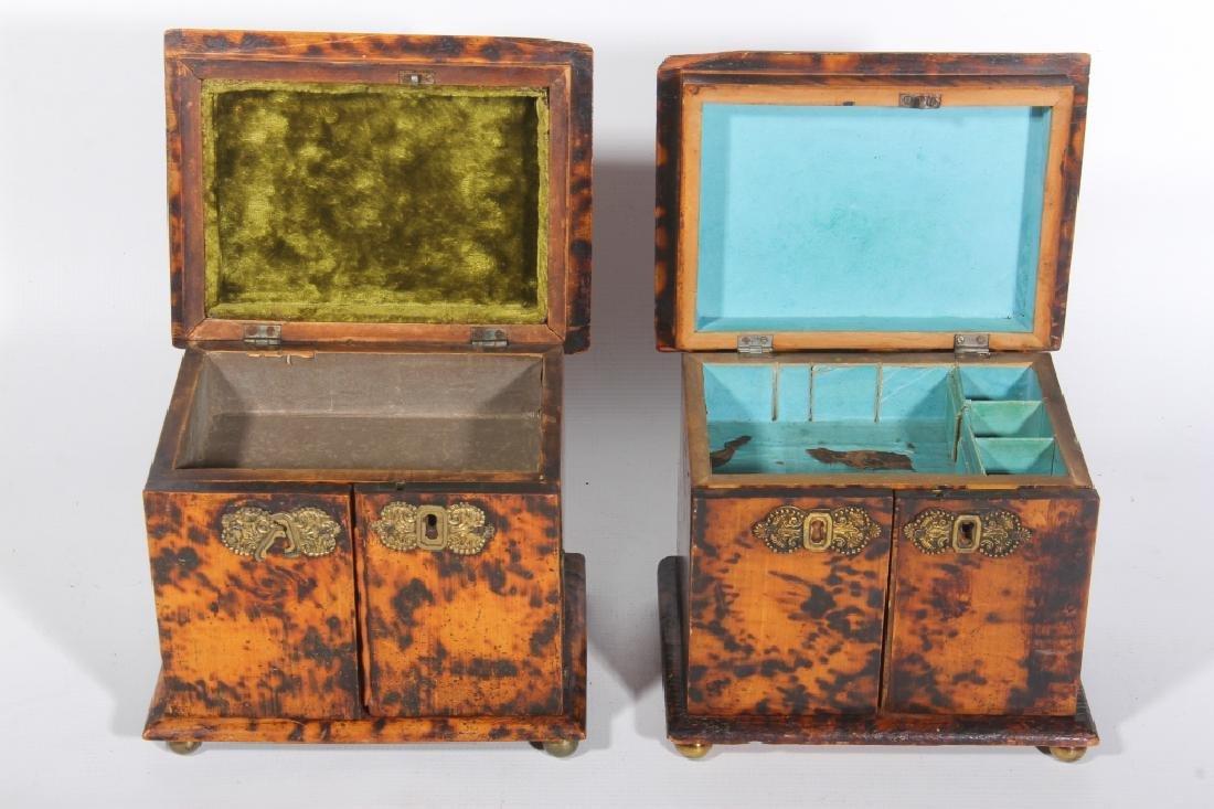 Georgian Style Faux Tortoise Shell Dresser Boxes - 2