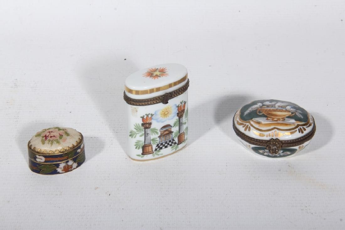 Collection Three Antique Continental Boxes