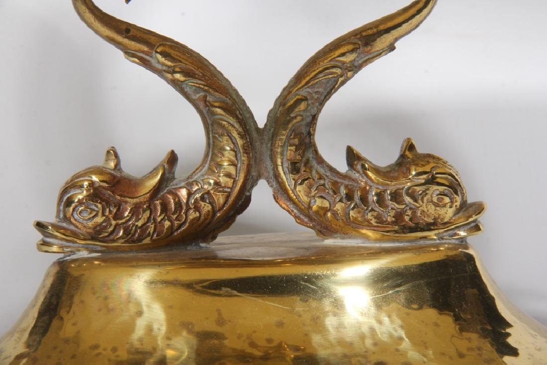 British Hammered Brass Two-Tier Serving Tray - 2
