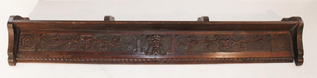 Continental Carved Fruitwood Wall Shelf or Valance