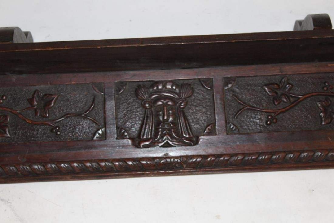 Continental Carved Fruitwood Wall Shelf or Valance - 4