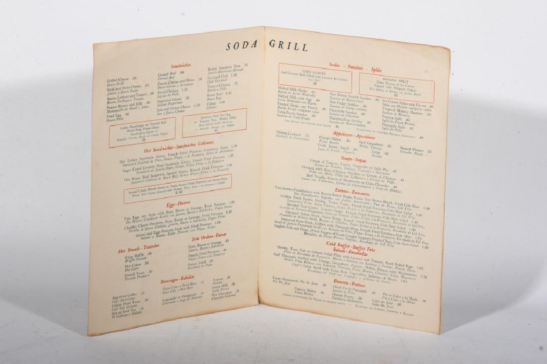 Cuban Restaurant Menu Signed by Nat King Cole - 3