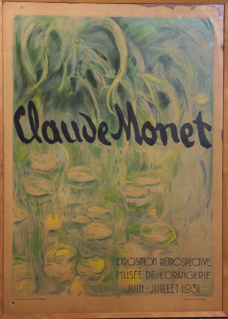 Vintage Claude Monet Exhibition Poster