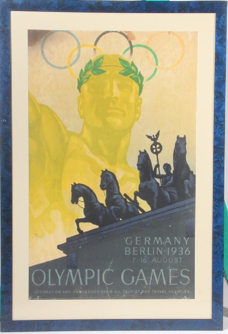 Vintage Original German 1936 Olympic Games Poster
