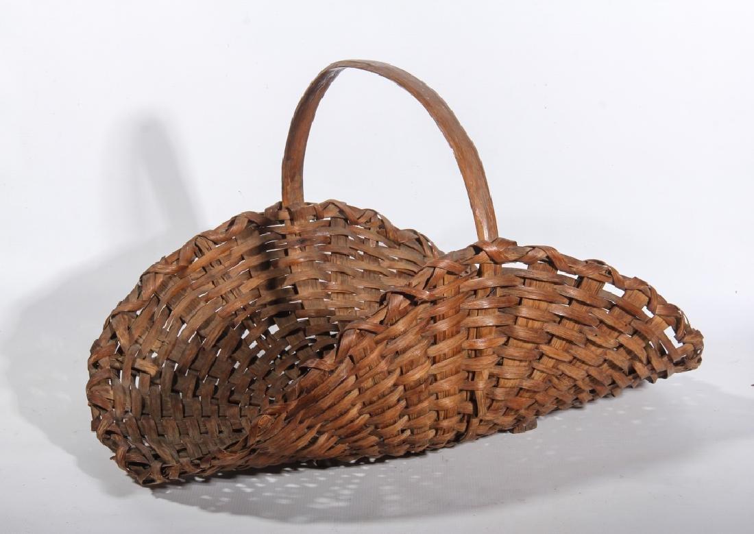 Two Antique American Split Oak Woven Baskets
