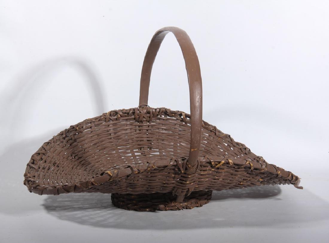 Two Antique American Split Oak Woven Baskets - 2