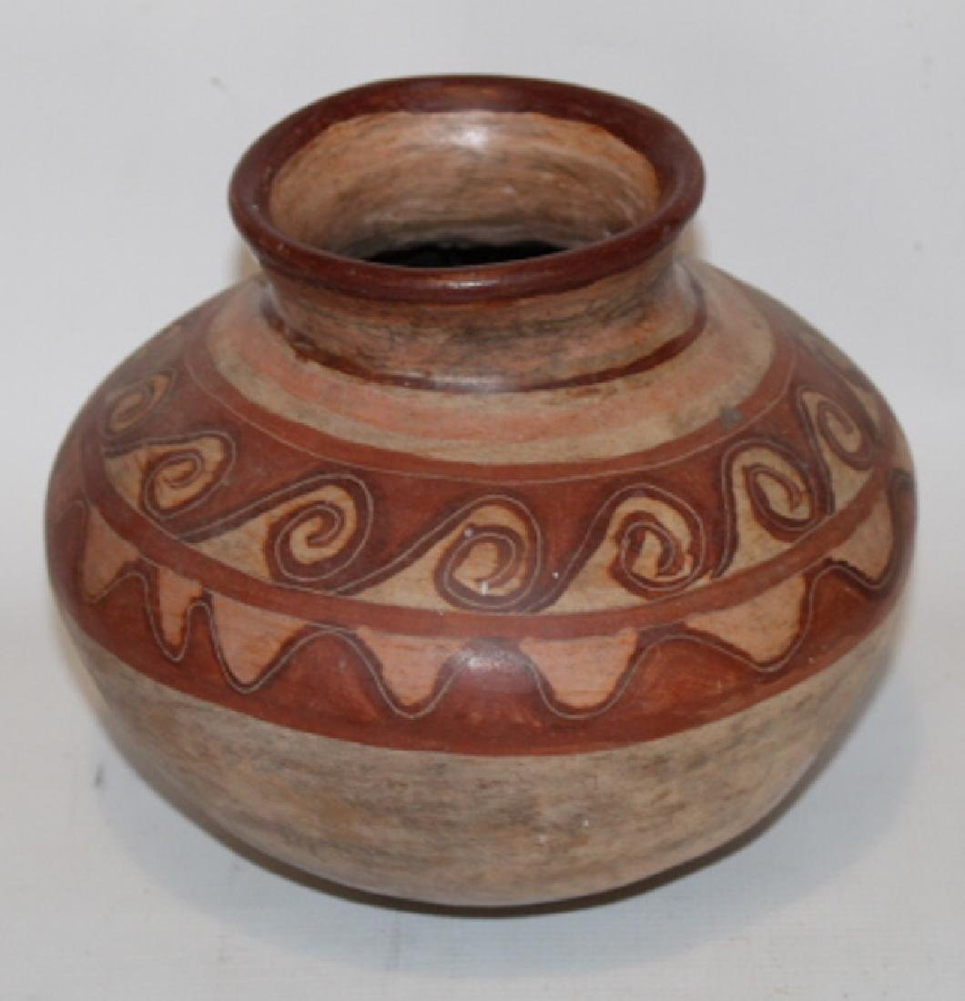 Antique Native American Decorated Pottery Jar