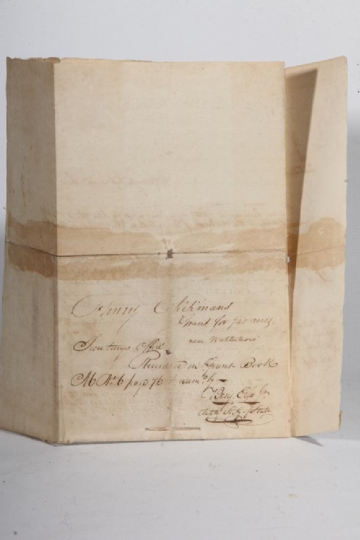 SC 1843 Andrew Pickens Signed Land Deed & Survey - 3