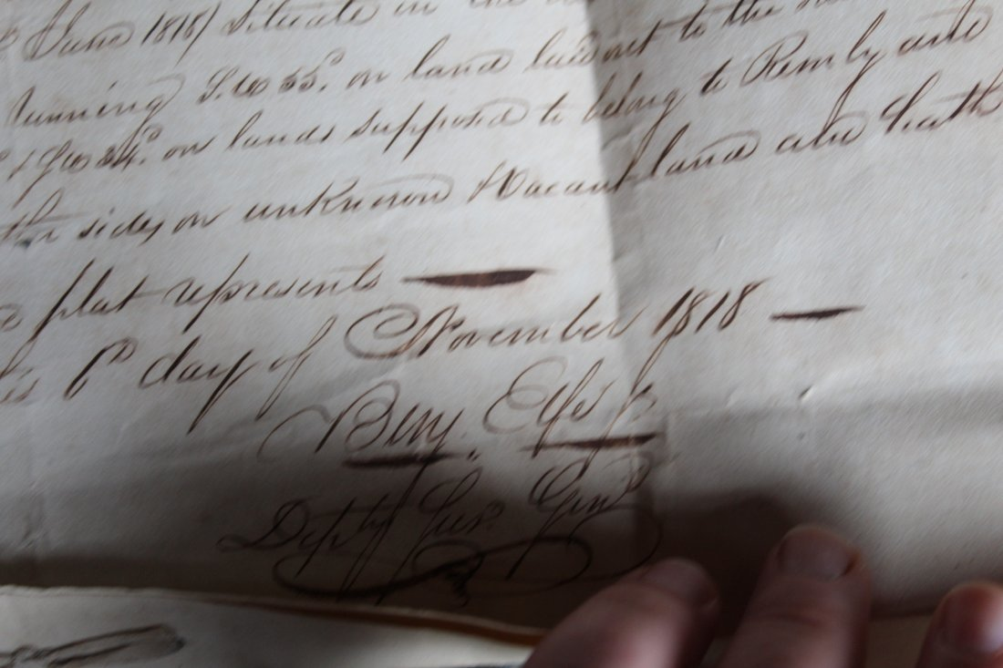 SC 1843 Andrew Pickens Signed Land Deed & Survey - 5