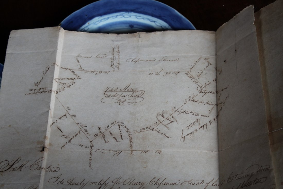 SC 1843 Andrew Pickens Signed Land Deed & Survey - 7