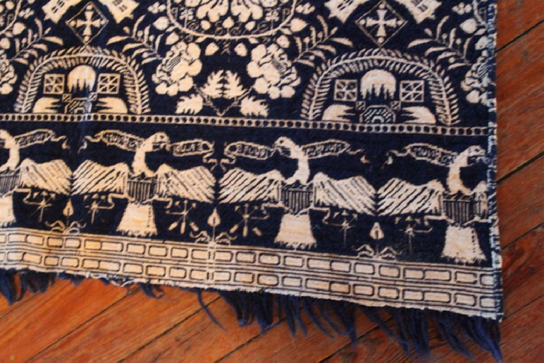 Very Fine Southern Coverlet or Throw Quilt - 4