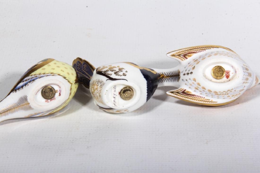 Three Royal Crown Derby Old Imari Porcelain Birds - 2