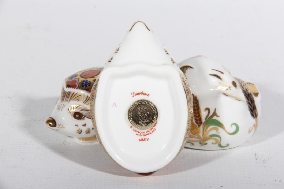 Three Royal Crown Derby Old Imari Porcelain Animal - 2