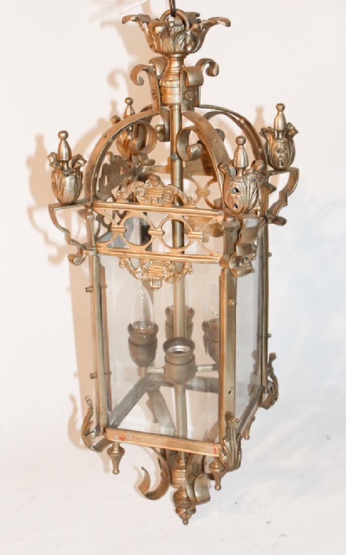English Brass Hanging Hall Light