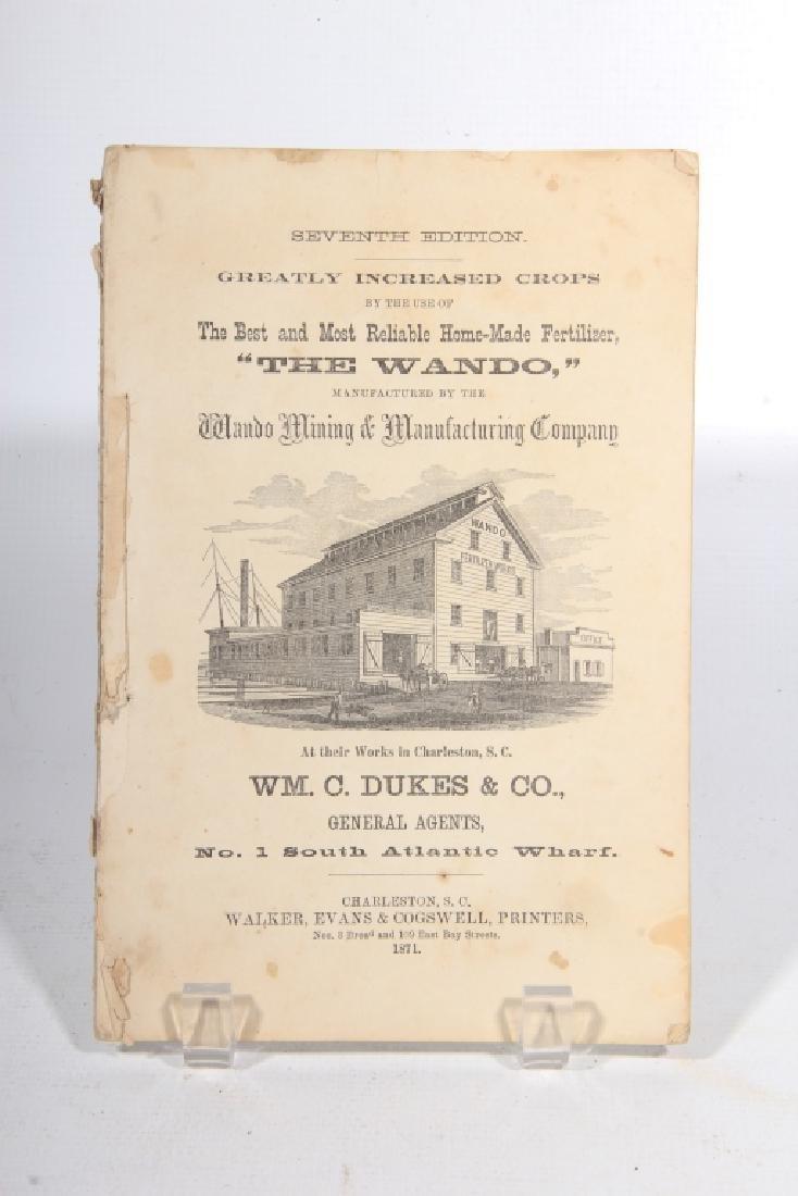 Rare South Carolina Book of Charleston Interest