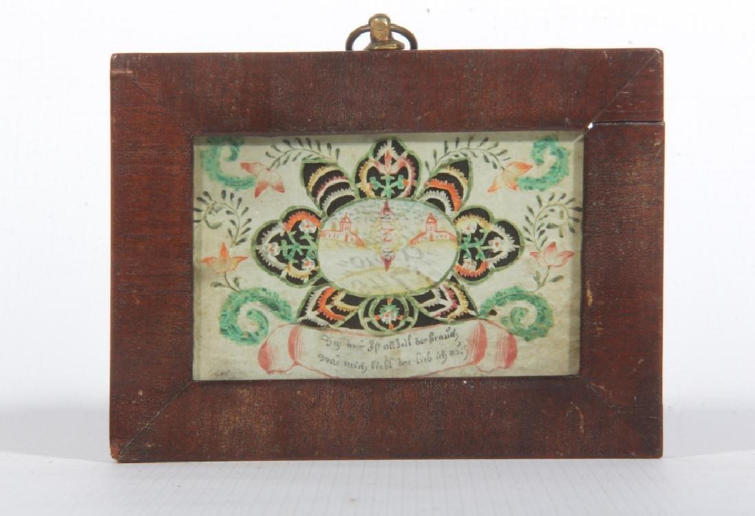 18th Century Handmade Watercolor Valentine