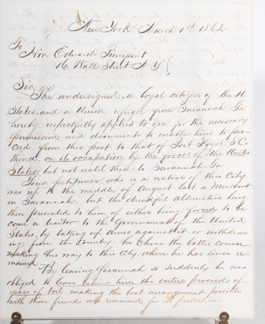 1862 Civil War Letter by Union Refuge