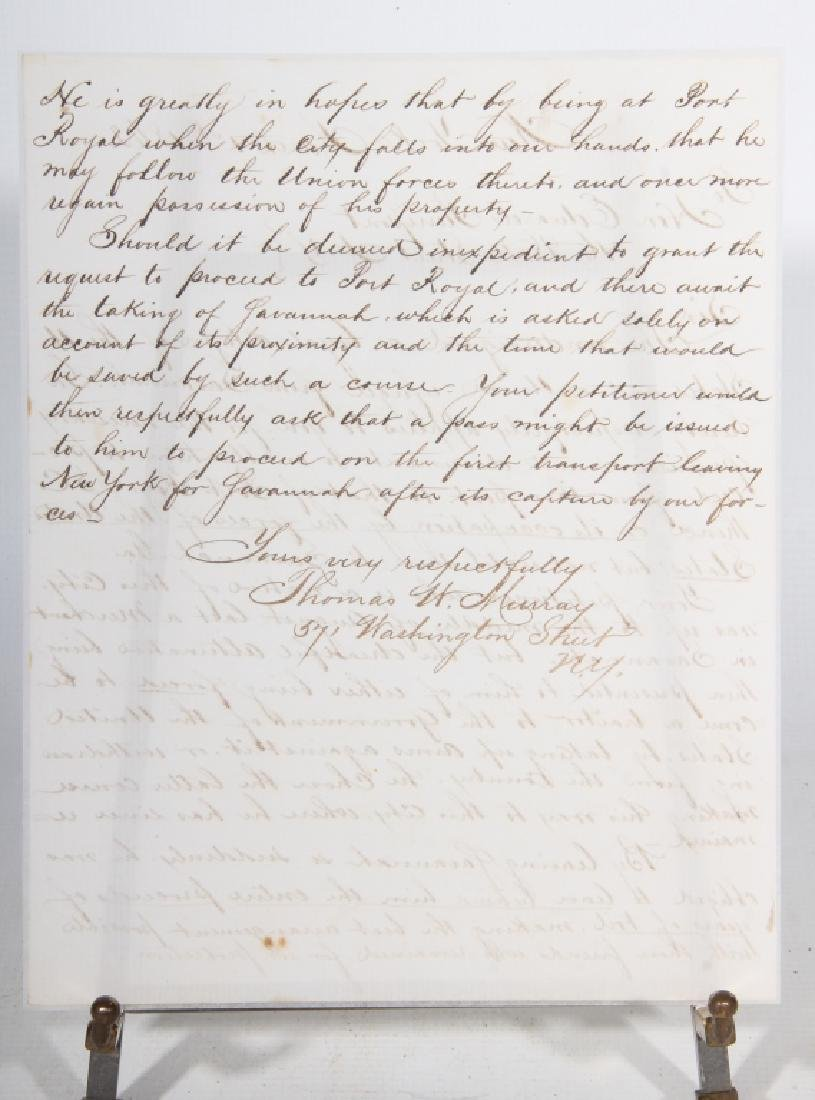 1862 Civil War Letter by Union Refuge - 2
