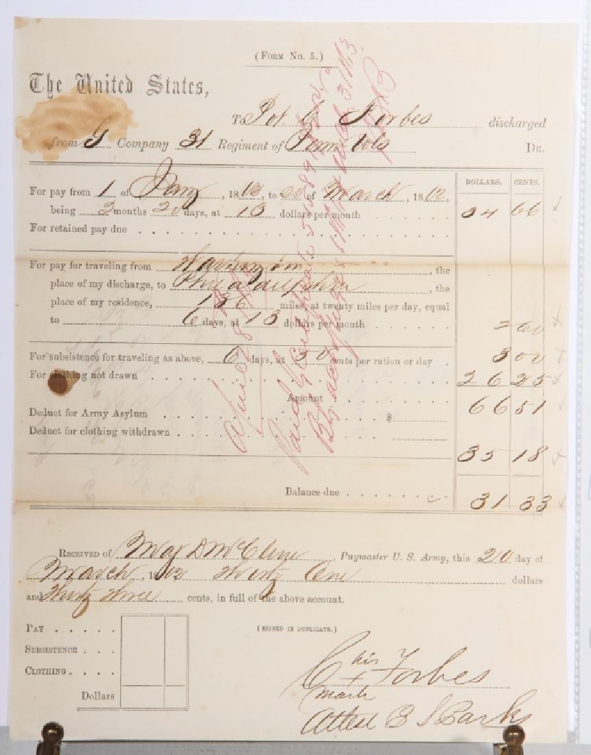 Civil War Era Military Discharge