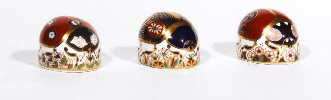 Royal Crown Derby Old Imari Porcelain Ladybugs