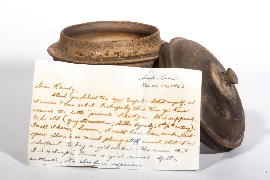 Antique Korean Stoneware Lidded Jar - 2