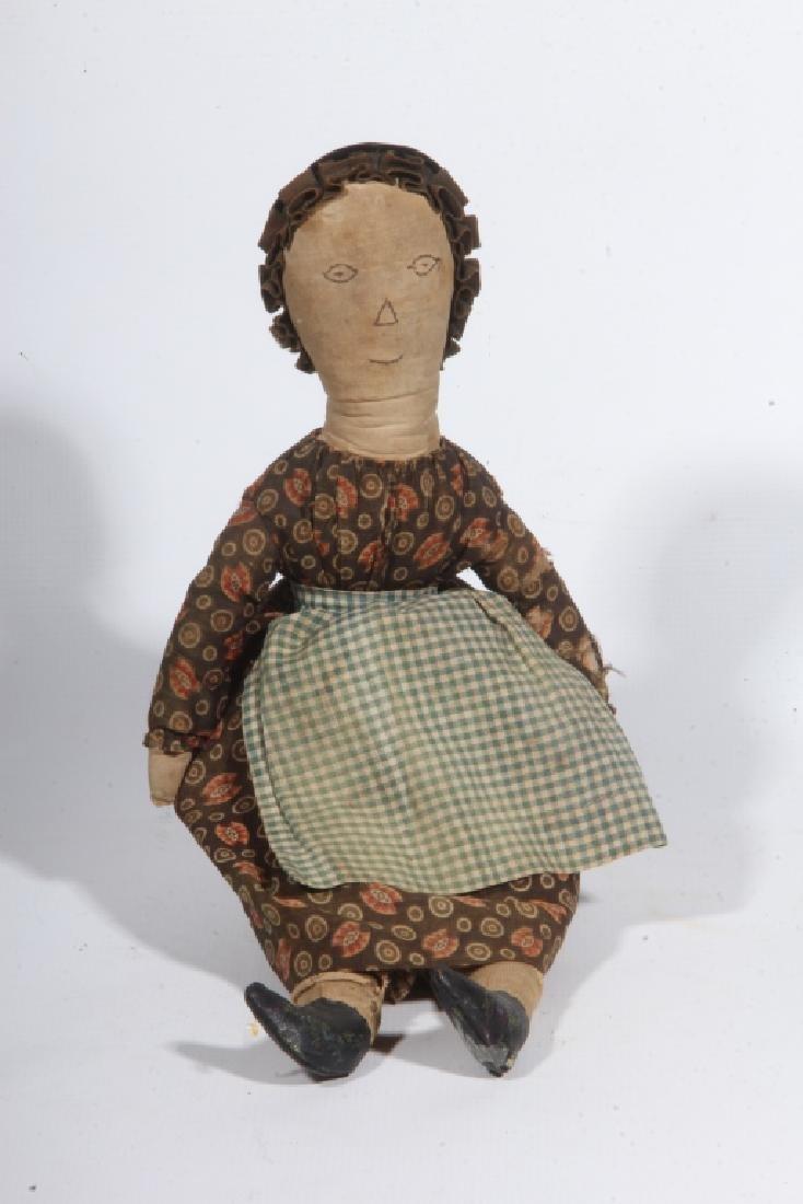 Antique American Folk Art Handmade Doll