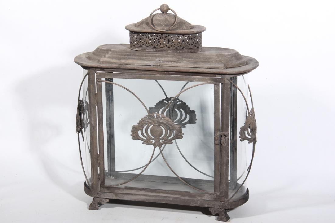 Metal & Glass Hanging Lantern