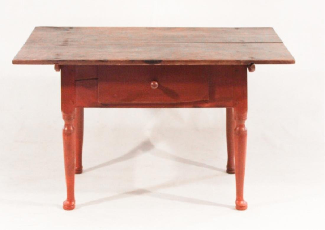 Queen Anne Style Pine & Ash Tilt Top Tavern Table