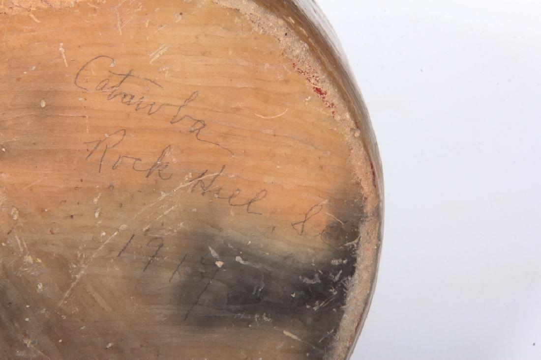 Fine & Early Catawba Indian Pottery Chief Head Jar - 3
