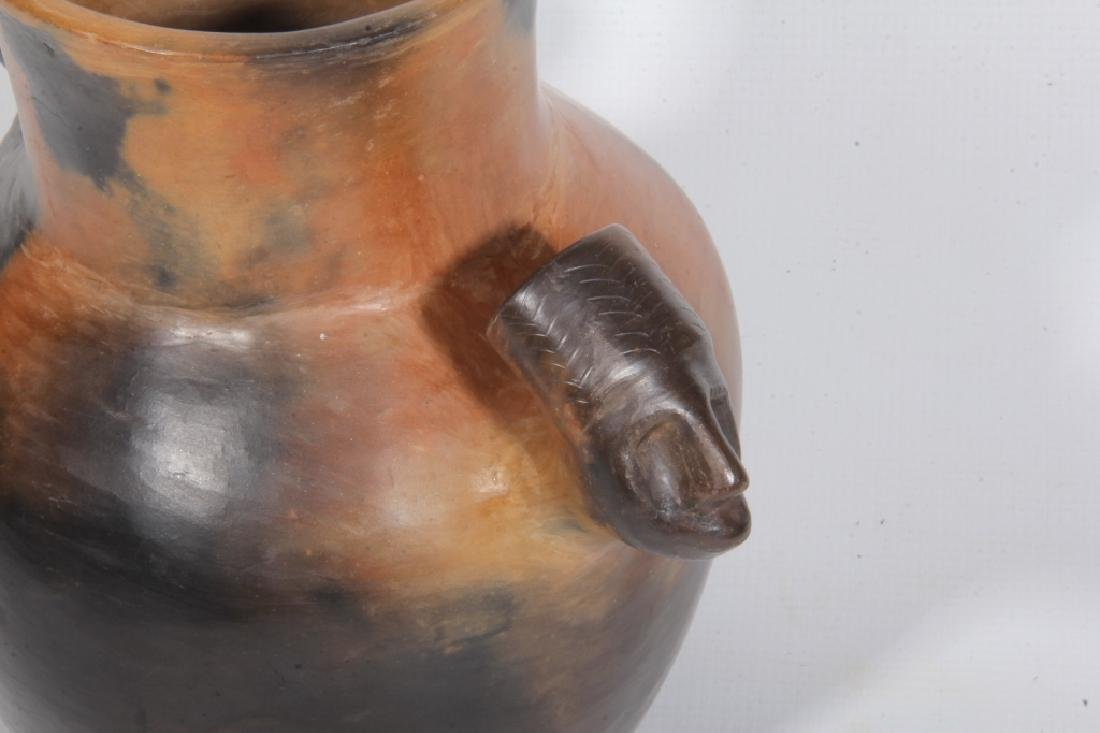 Southern Native American Pottery Chief Head Jar - 2