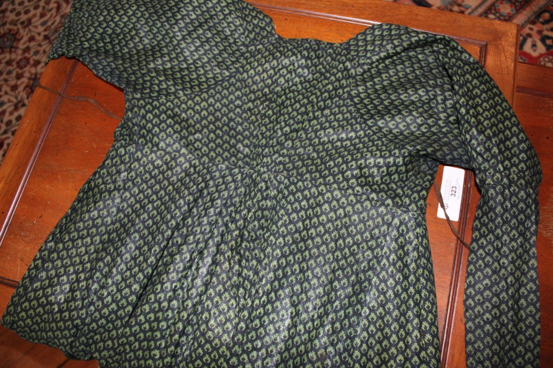 Antique Ladies Hand Made Dress - 6