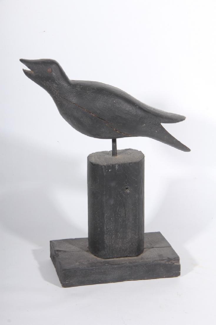 Vintage Folk Art Carved & Painted Crow Decoy