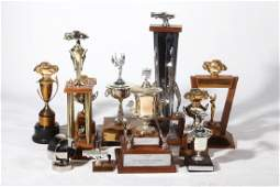 Important Vintage Nascar Racing Trophy Collection