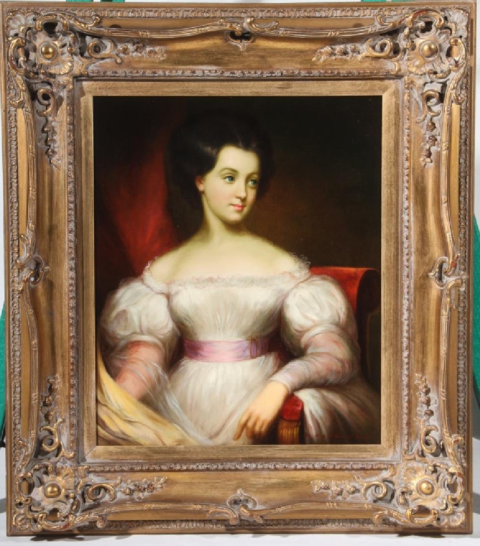 American or British School Portrait of Young Lady