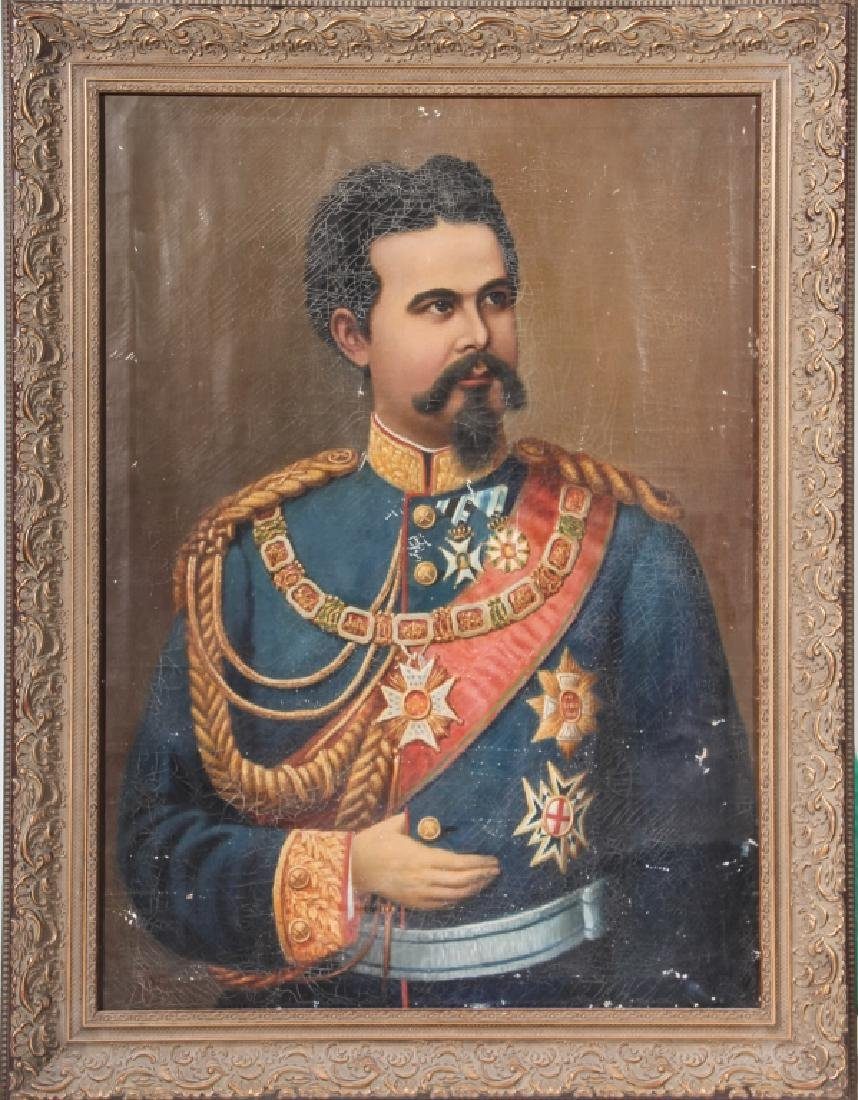 Continental School Portrait King Ludwig II Bavaria